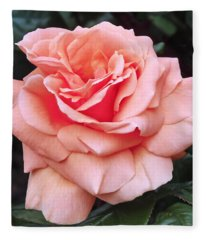 Peach Rose Fleece Blanket