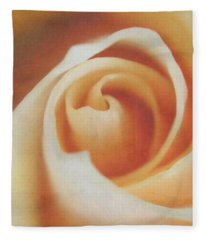 Peach Swirl Squared Fleece Blanket