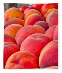 Peaches For Sale Fleece Blanket