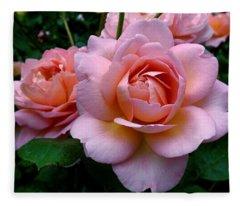 Peachy Pink Fleece Blanket