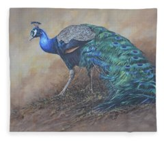 Peacock Fleece Blanket