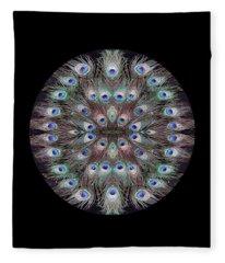 Peacock Eye Kaleidoscope Fleece Blanket