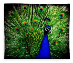 Peacock Paradise Fleece Blanket