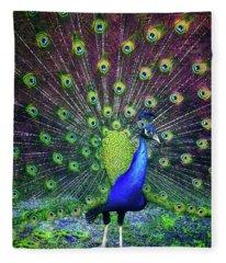Peacock Series 9801 Fleece Blanket