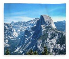 Peak Of Half Dome- Fleece Blanket