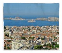 Peak View Marseille Fleece Blanket
