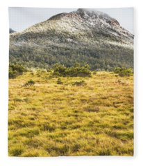 Peaks And Plateaus Fleece Blanket