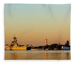 Pearl Harbor Dawn Fleece Blanket