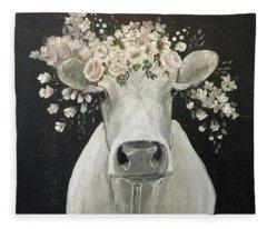 Pearlette The Cow Fleece Blanket