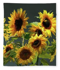 Pears And Sunflowers Fleece Blanket