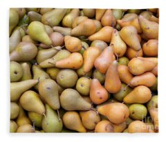 Pears At The Harvest Fleece Blanket