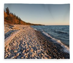 Pebble Beach Autumn    Fleece Blanket
