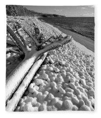 Pebble Beach Winter Fleece Blanket