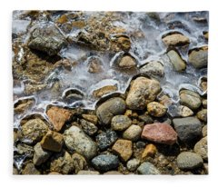 Pebbles And Ice Fleece Blanket