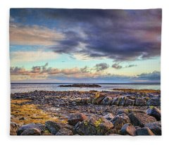 Pebbles And Sky  #h4 Fleece Blanket