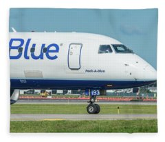 Peek-a-blue Fleece Blanket