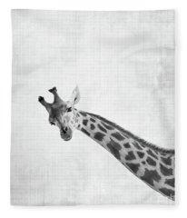 Peekaboo Giraffe Fleece Blanket