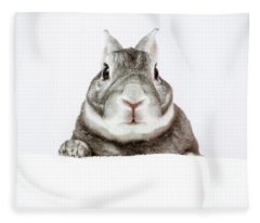 Peeking Bunny Fleece Blanket