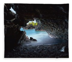 Peeking Through The Lava Tube Fleece Blanket