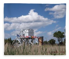 Pegasus Bridge Fleece Blanket
