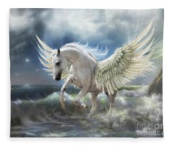 Pegasus Rising Fleece Blanket