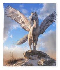 Pegasus The Winged Horse Fleece Blanket