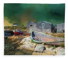 Peggy's Cove Fleece Blanket