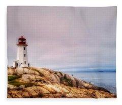 Peggys Point Lighthouse Fleece Blanket