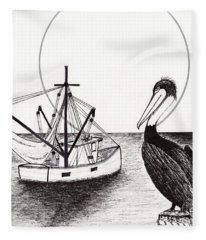 Pelican Fishing Paradise C1 Fleece Blanket