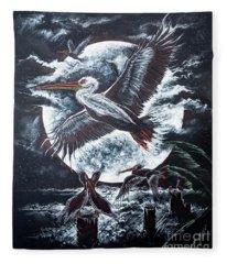 Pelican Moon Fleece Blanket