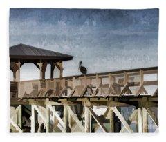 Pelican Perch Fleece Blanket