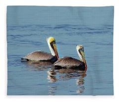 Pelicans 2 Together Fleece Blanket