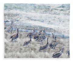 Pelicans Fleece Blanket
