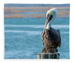 Pelican's Perch Fleece Blanket