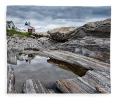 Pemaquid Point Lighthouse Fleece Blanket