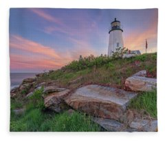 Pemaquid Point Sunset Fleece Blanket