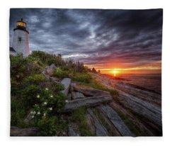 Pemaquid Sunrise Fleece Blanket