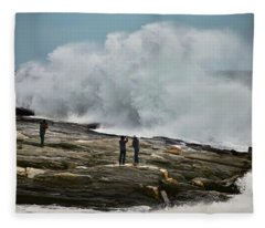 Pemaquid Surf Fleece Blanket