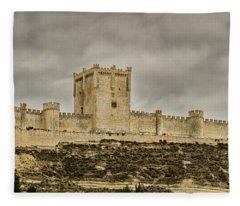 Penafiel Castle, Spain. Fleece Blanket