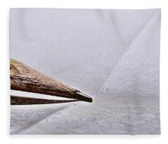 Pencil On Paper Fleece Blanket