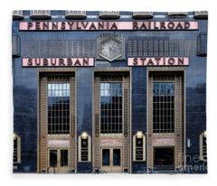 Pennsylvania Railroad Suburban Station Fleece Blanket