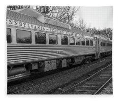 Pennsylvania Reading Seashore Lines Train Fleece Blanket
