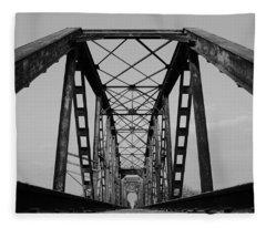 Pennsylvania Steel Co. Railroad Bridge Fleece Blanket