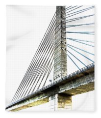 Penobscot Narrows Bridge And Observatory Fleece Blanket