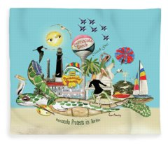 Pensacola Protects Its Turtles Fleece Blanket