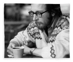 Pensive Brown Student, Louis Restaurant, 1976 Fleece Blanket
