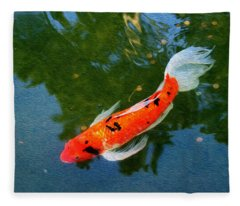 Pensive Koi Fleece Blanket