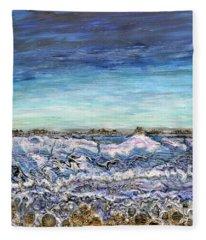 Pensive Waters Fleece Blanket