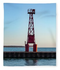 Pentwater Light Tower Fleece Blanket
