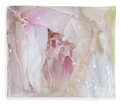 Peony Abstract 4 Fleece Blanket